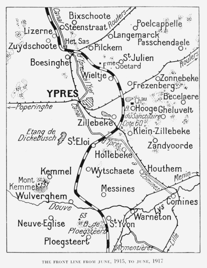 THE FRONT LINE FROM JUNE 1915 TO JUNE 1917