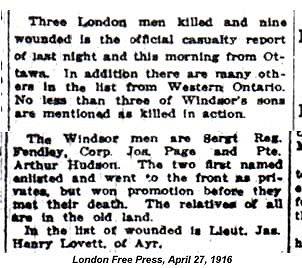 London Free Press: April 27, 1916