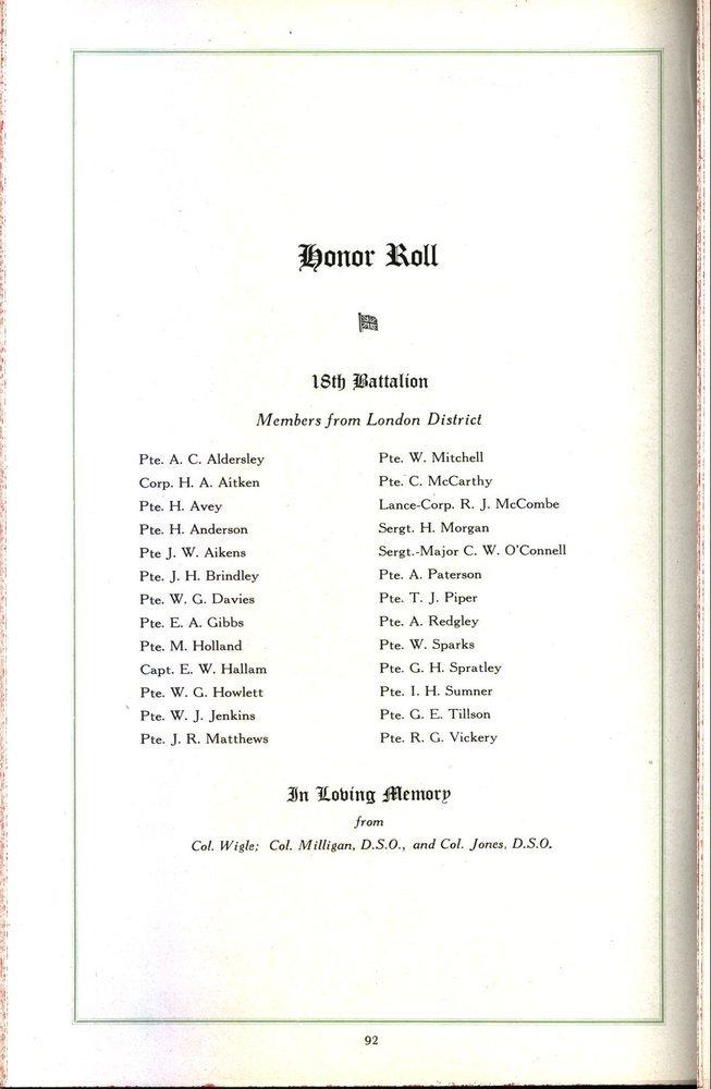 Southwestern Ontario Memorial Album: Notice incorrect spelling of name.