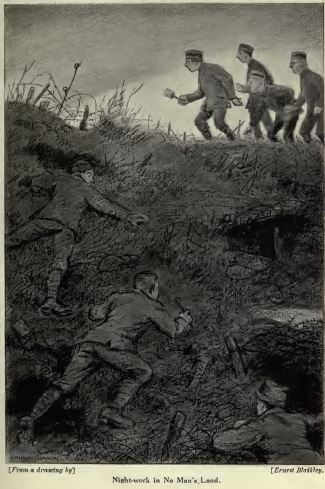 """Night-work in No Mans Land from """"Sniping in France"""""""