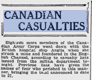 Toronto World, November 24, 1915