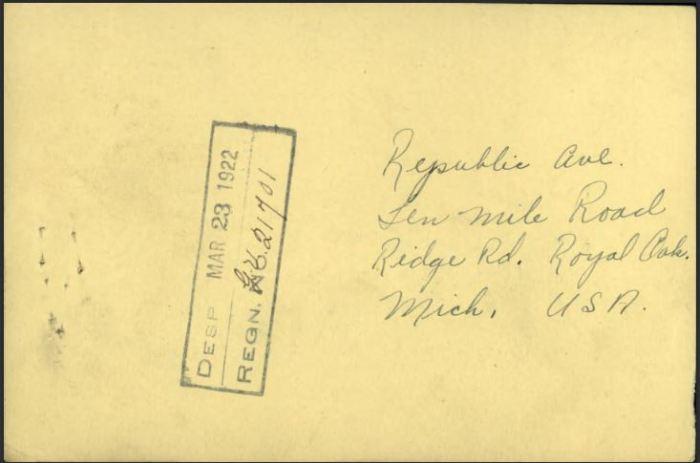 Updated Address Royal Oak Mich USA