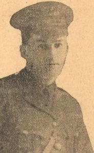 Newspaper Clipping – Born 1895 in Glenwood, Nova Scotia. Employed as a teller in the Barrington Street branch of the Bank of Nova Scotia in Halifax, N.S. Enlisted in 1915, fought in France in 1916 and was awarded the Military Cross for conspicuous bravery. Shot down while on patrol as a Captain in the 9th Squadron Royal Flying Corps and presumed dead in April 1917.