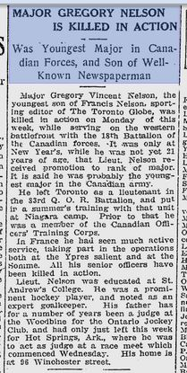 The Toronto World March 10 1917 Clipping