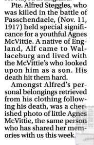 Screen capture of Wallecburge Courier Express article dated September 9, 2010