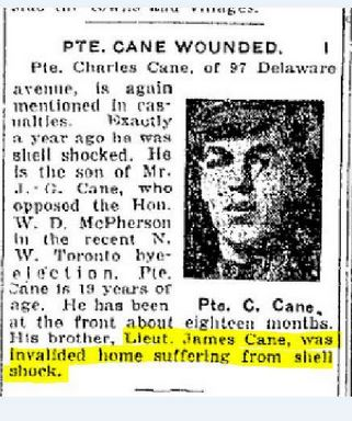 Wound Notice from Newspaper