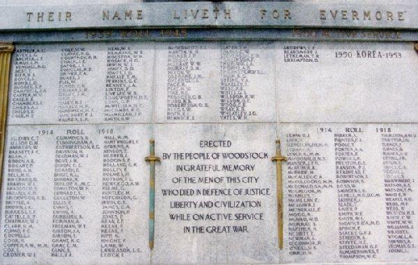 Cenotaph Cenotaph in Woodstock Ontario Dorken
