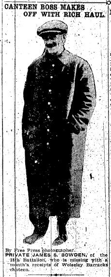 Private James S Bowden