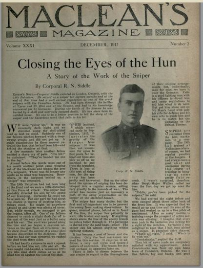 McLeans December 1917 Article by Siddle Page 1