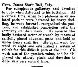 The London Gazette Publication date: 5 March 1918 Supplement: 30561 Page: 2944