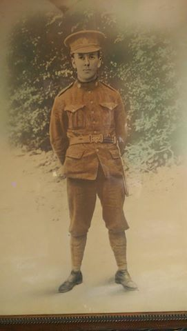 """Picture of Private Archibald Ambrous, reg. no. 53994 courtesy of """"Rusty Nuts"""" from the 18th Battalion Facebook Group. From his personal collection."""