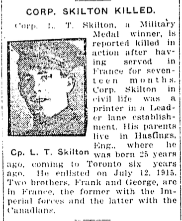 Newspaper Clipping – From the Toronto Star. Submitted for the project, Operation: Picture Me. Source: CVWM