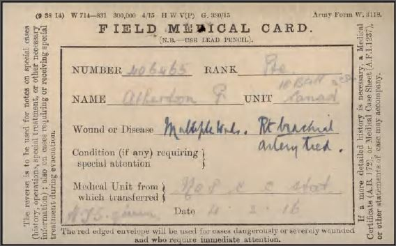 Field Medical Card Page 1