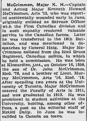 McGill Daily Oct 1 1917