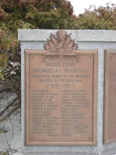 Middleton NS war memorial copyright of M Norton