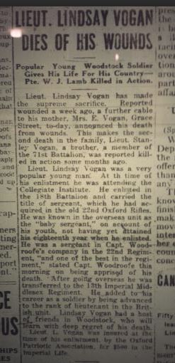 Newspaper Article LC Vogan