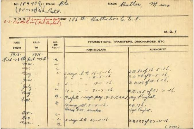 186th OS Battalion card