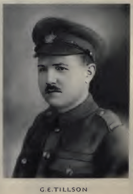 George Edwin Tillson. Source: Memorial of the Great War, 1914-1918 : a record of service by Bank of Montreal Published 1921