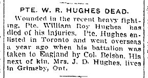 Newspaper Clipping – From the Toronto Star for 6 June 1917.