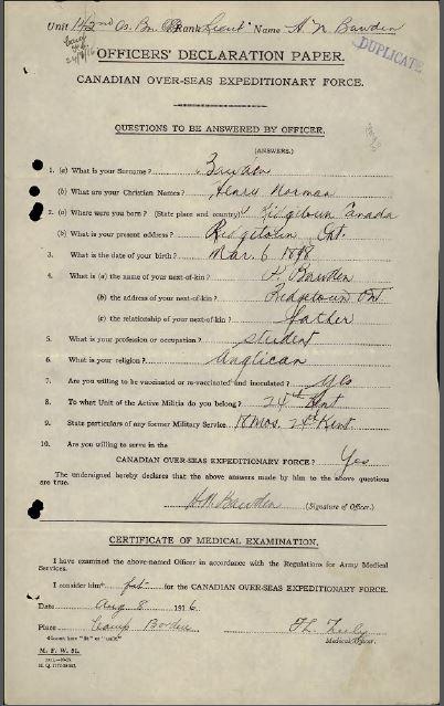 Officers Attestation Paper