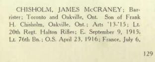The War Memorial of Trinity College U of T Page 129 Part 1