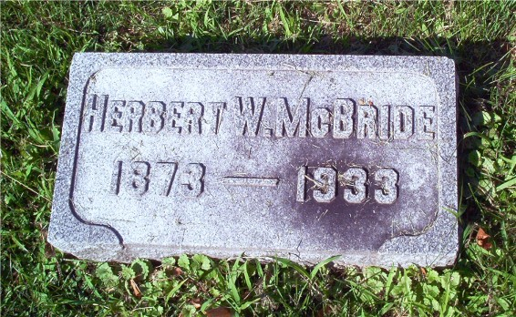 Died March 17, 1933 Capt Herbert W McBride 59695 Crown Hill Cemetery Indianapolis IN