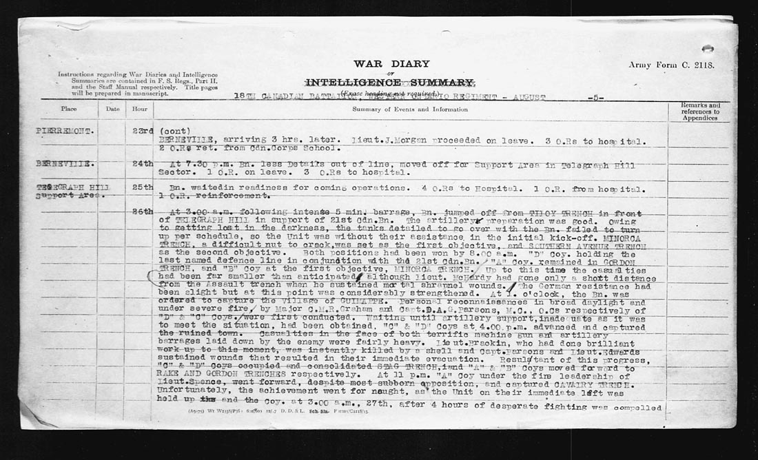 august-26-1918-war-diary-entry-relating-lt-mchardy-death