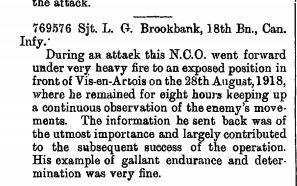 DCM Citation for Brookbank