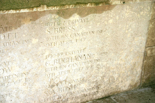 Zivy Crater inscription. Inscription – A photograph of the memorial wall at the Zivy Crater Cemetery. May he rest in peace.(J.Stephens) Source: CVWM