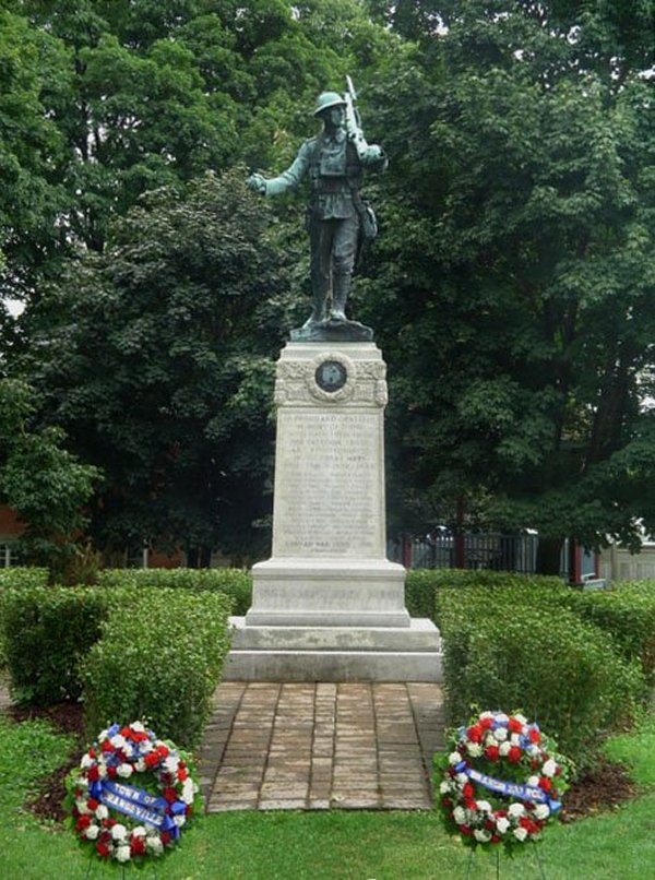 Monument – Orangeville (Dufferin County) Ontario War Memorial. via CVWM