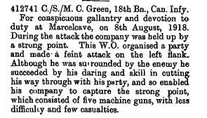 DCM Citation. The London Gazette Publication date: 14 January 1919 Supplement: 31128 Page: 853