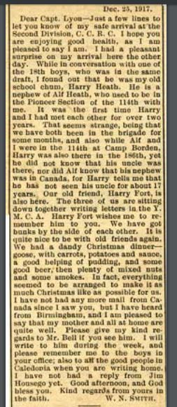 Letter by Source: Grand River Sachem January 23, 1918
