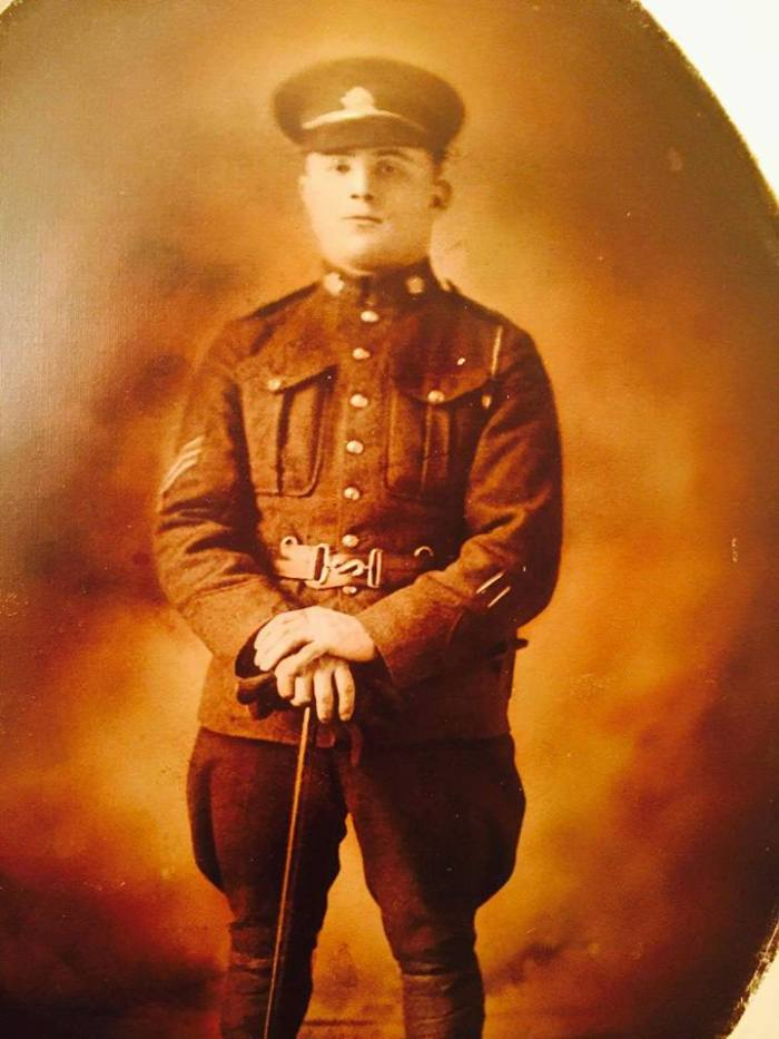 Private Andrew Weber, reg. no. 53297. Via Rob Kokko, 18th Battalion Facebook Group.