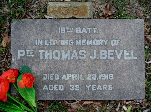 Grave Marker at Prospect Cemetery, Toronto, Ontario. Source: CVWM