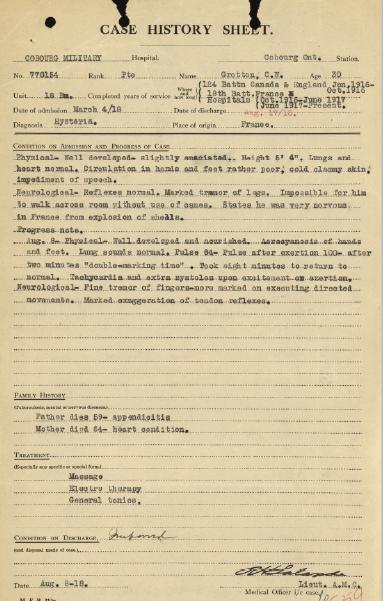 Case History Sheet Grotton