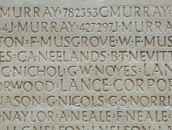 Panel at Vimy Ridge. Inscription – His name as it is inscribed on the Vimy Memorial (2010). Over 11,000 fallen Canadians having no known place of burial in France, are honoured on this Memorial. May they never be forgotten. (J. Stephens). Source: CVWM