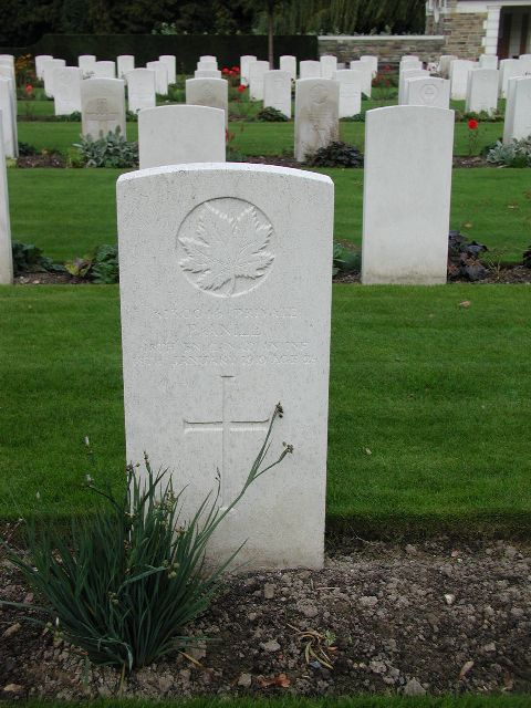 Tombstone of Private Anile - Brussels Town Cemetary This image is copyright 2004 by marc. It may be used, with permission, for any non-profit purpose.