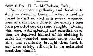 The London Gazette Publication date:19 October 1917 Supplement:30346 Page:10869