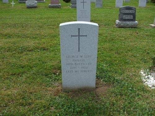 Grave stone of Luff, George Walter: Service no. 189561