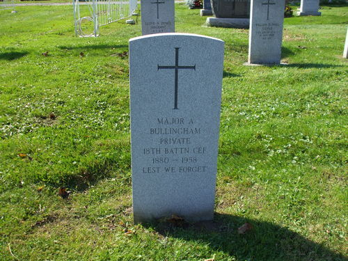 Pte. Major Bullingham. Source: Chatham-Kent Cemeteries
