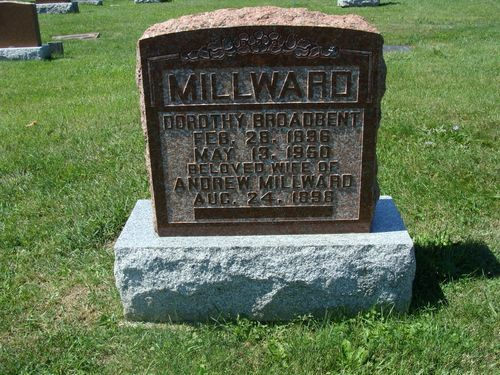 Nee Broadbent; Andrew remarried to Margaret Ann Whitmarsh in 1952, he died 1957; Andrew was a veteran of WW1, Private, Service # 880450, 186th Battalion & 18th Battalion