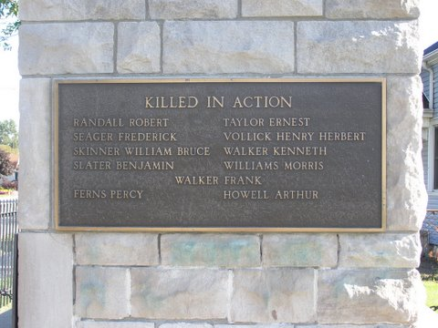 Plaque on monument in Port Edward, Ontario. Source: Bev Walking