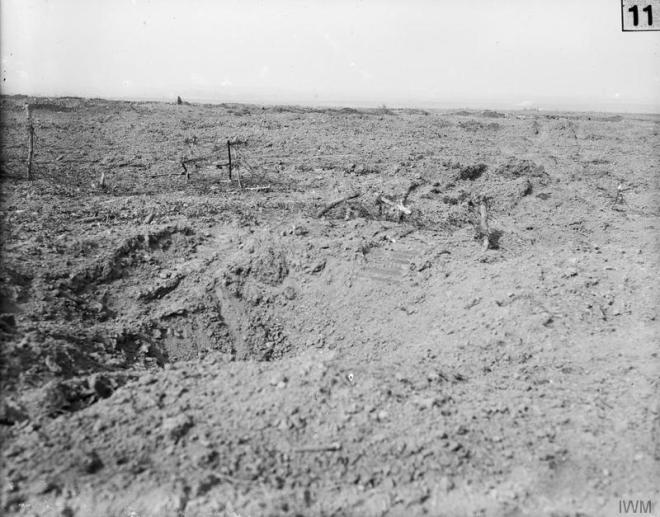 © IWM (Q 195) View of the battlefield between Flers and Martinpuich, 15th September 1916.