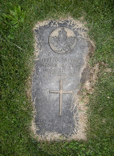 Headstone at the cemetery in Dresden, Ontario. Source: M. Norton