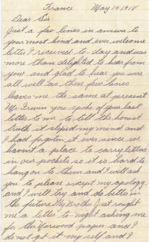 Page 1. Source: VIU Canadian Letters & Images Project