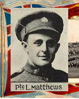 "Photo of Lawrence Mathews – Caption (pg. 377): Soldiers of Peel Who Lost Their Lives During the Great War. Author - William Perkins Bull. ""From Brock to Currie: the military development and exploits of Canadians in general and of the men of Peel in particular, 1791 to 1930."" Toronto, 1935. Source: CVWM"