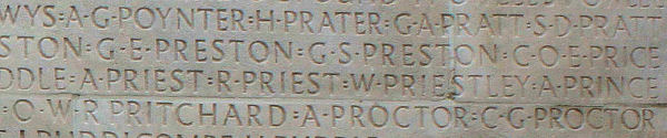 Inscription – His name as it is inscribed on the Vimy Memorial. Over 11,000 fallen Canadians having no known place of burial in France, are honoured on this Memorial. May they never be forgotten. (J. Stephens). Source: CVWM