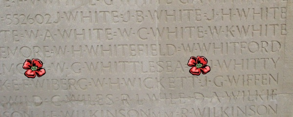 Inscription – Inscription - Vimy Memorial - August 2012 … Photo courtesy of Marg Liessens. Source CVWM
