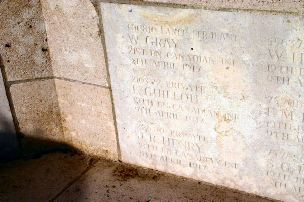 nscription – A photograph of the memorial wall at the Zivy Crater Cemetery. May he rest in peace.(J.Stephens). Source: CVWM