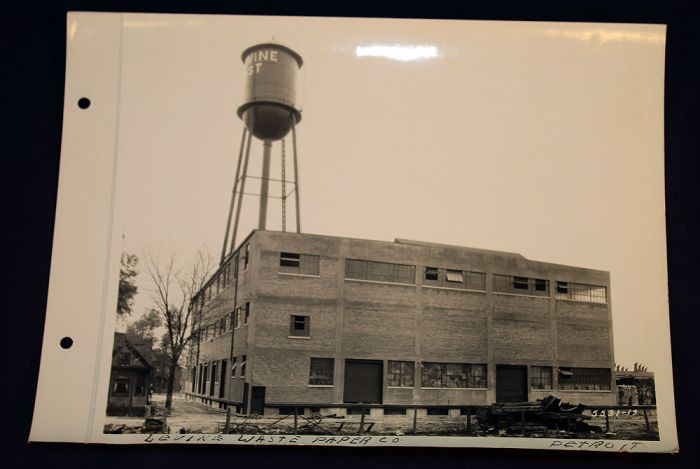 Picture of the Levine Waste Paper Company of Detroit Michigan. Source: eBay